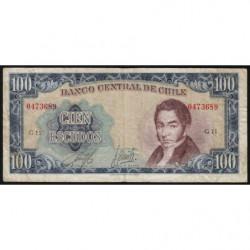 Chili - Pick 141a2 - 100 escudos - 1970 - Etat : TB