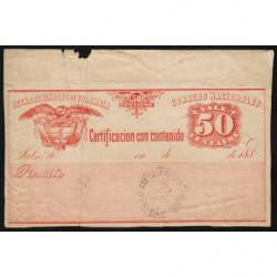 Colombie - Billet postal - 1893 - 50 centavos - Etat : B