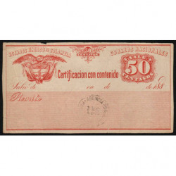 Colombie - Billet postal - 1893 - 50 centavos - Etat : TB