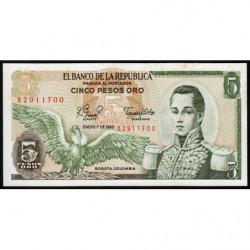 Colombie - Pick 406f3 - 5 pesos oro - 01/01/1980 - Etat : SUP