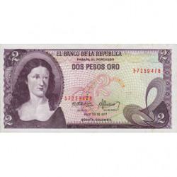 Colombie - Pick 413b3 - 2 pesos oro - 20/07/1977 - Etat : SPL