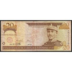 Rép. Dominicaine - Pick 160 - 20 pesos oro - 2000 - Etat : TB-