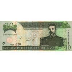 Rép. Dominicaine - Pick 168b - 10 pesos oro - 2002 - Etat : SUP