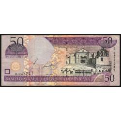 Rép. Dominicaine - Pick 170b - 50 pesos oro - 2002 - Etat : TB