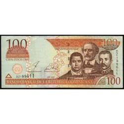 Rép. Dominicaine - Pick 171b - 100 pesos oro - 2002 - Etat : TTB