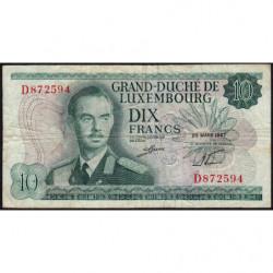 Luxembourg - Pick 53a - 10 francs - 20/03/1967 - Etat : TB-