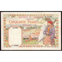 Algérie - Pick 87 - 50 francs - 02/02/1945 - Etat : TTB