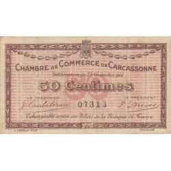 Carcassonne - Pirot 38-1 variété - 50 centimes - 1914 - Etat : TB