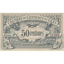 Auch (Gers) - Pirot 15-1 - Série B - 50 centimes - 1914 - Etat : SUP