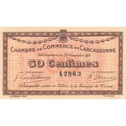 Carcassonne - Pirot 38-1a - 50 centimes - 1914 - Etat : SUP