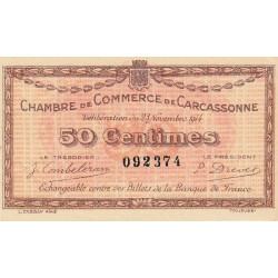 Carcassonne - Pirot 38-1 - 50 centimes - 1914 - Etat : SUP