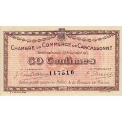 Carcassonne - Pirot 38-1 - 50 centimes - 1914 - Etat : TTB+