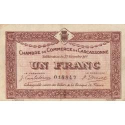 Carcassonne - Pirot 38-6 - 1 franc - 1914 - Etat : TB