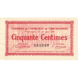Carcassonne - Pirot 38-11 - 50 centimes - 1917 - Etat : SUP