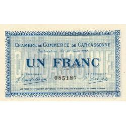 Carcassonne - Pirot 38-13 - 1 franc - 1917 - Etat : SUP
