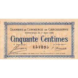 Carcassonne - Pirot 38-15 - 50 centimes - 1920 - Etat : SUP
