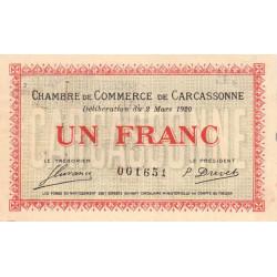 Carcassonne - Pirot 38-17 - 1 franc - Etat : TTB+