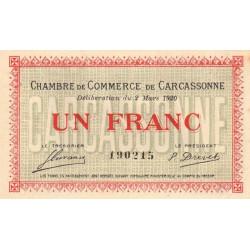 Carcassonne - Pirot 38-17 - 1 franc - 1920 - Etat : SUP