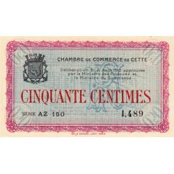 Cette (Sète) - Pirot 41-4 - 50 centimes - Série AZ 150 - 11/08/1915 - Etat : NEUF