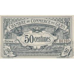 Auch (Gers) - Pirot 15-1 - 50 centimes - Série C - 18/11/1914 - Etat : SPL