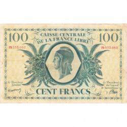 AEF - Pick 13 - 100 francs France Libre - 02/12/1941 - Série PD - Etat : TB+ à TTB