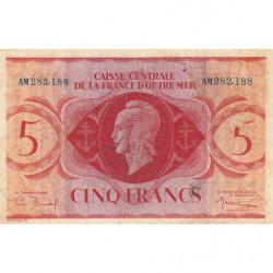 AEF - Pick 15a - 5 francs France Outre-Mer - 02/02/1944 - Série AM - Etat : TB