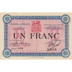 Cette (Sète) - Pirot 41-5 - 1 franc - 1915 - Etat : SPL