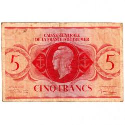 AEF - Pick 15c - 5 francs France Outre-Mer - 02/02/1944 - Sans série - Etat : TB-