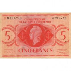 AEF - Pick 15e - 5 francs France Outre-Mer - 02/02/1944 - Série B - Etat : TB