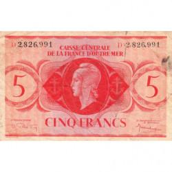 AEF - Pick 15g - 5 francs France Outre-Mer - Série D - 02/02/1944 - Etat : TB-