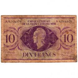 AEF - Pick 16d - 10 francs France Outre-Mer - Série A - 02/02/1944 - Etat : B+