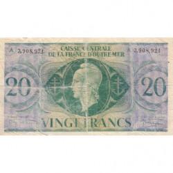 AEF - Pick 17d - 20 francs France Outre-Mer - Série A - 02/02/1944 - Etat : TB-