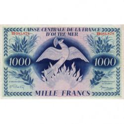 AEF - Pick 19 - 1'000 francs France Outre-Mer - Série TD - 02/02/1944 - Etat : TTB+ à SUP