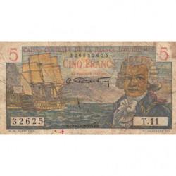 AEF - Pick 20B - 5 francs - France Outre-Mer - Série T.11 - 1947 - Etat : B