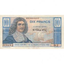 AEF - Pick 21 - 10 francs - France Outre-Mer - 1947 - Etat : TTB-