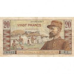 AEF - Pick 22 - 20 francs - France Outre-Mer - 1947 - Etat : TB
