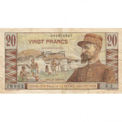 AEF - Pick 22 - 20 francs - France Outre-Mer - Série E.2 - 1947 - Etat : TB