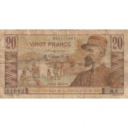 AEF - Pick 22 - 20 francs - France Outre-Mer - 1947 - Etat : B+
