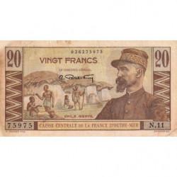 AEF - Pick 22 - 20 francs - France Outre-Mer - Série N.11 - 1947 - Etat : TB