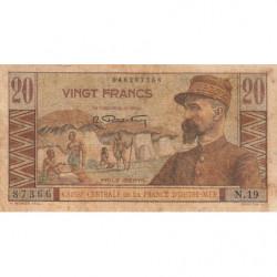 AEF - Pick 22 - 20 francs - France Outre-Mer - Série N.19 - 1947 - Etat : B+