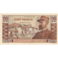 AEF - Pick 22 - 20 francs - France Outre-Mer - Série Y.19 - 1947 - Etat : SUP
