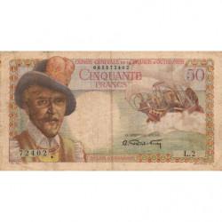 AEF - Pick 23 - 50 francs - France Outre-Mer - Série L.2 - 1947 - Etat : TB-