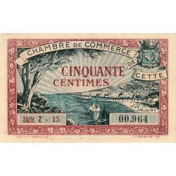 Cette (Sète) - Pirot 41-18 - 50 centimes - Série Z 15 - 1922 - Etat : SUP+