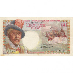 AEF - Pick 23 - 50 francs - France Outre-Mer - 1947 - Etat : TTB+ à SUP
