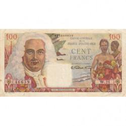 AEF - Pick 24 - 100 francs - France Outre-Mer - Série W.21 - 1947 - Etat : TTB+