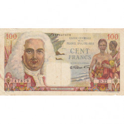 AEF - Pick 24 - 100 francs - France Outre-Mer - Série D.22 - 1947 - Etat : TTB-