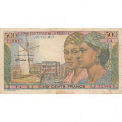 AEF - Pick 25 - 500 francs - France Outre-Mer - 1947 - Etat : TB+