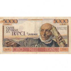 AEF - Pick 27 - 5'000 francs - France Outre-Mer - 1947 - Etat : TB+