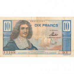 AEF - Pick 29 - 10 francs - 1957 - Série D.1 - Etat : TTB-