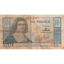 AEF - Pick 29 - 10 francs - 1957 - Série F.4 - Etat : B